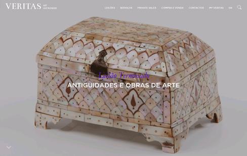 VERITAS Art Auctioneers - A Leading European Auction House Web Design