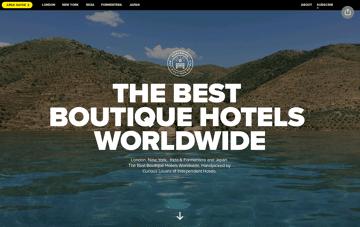 Best Boutique Hotels Worldwide Web Design