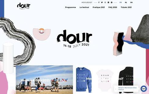 Dour Festival Web Design