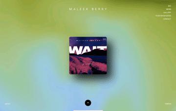 Maleek Berry Web Design