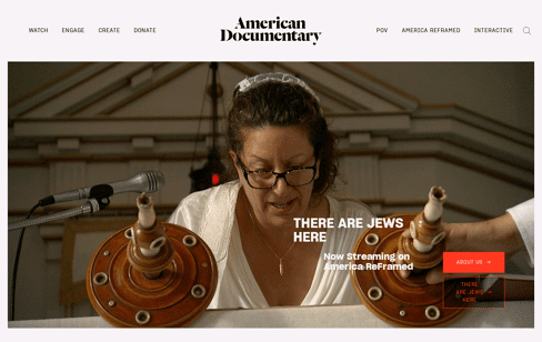 American Documentary Inc. Web Design