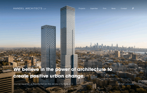 Handel Architects Web Design