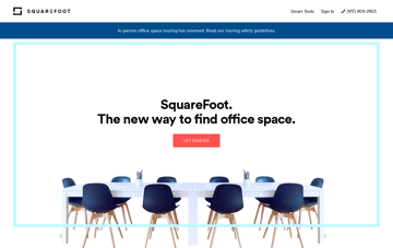 SquareFoot Commercial Real Estate Web Design