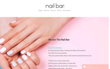 The Nail Bar Web Design