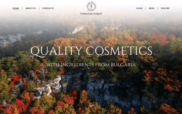 Thracianforest Cosmetics Web Design