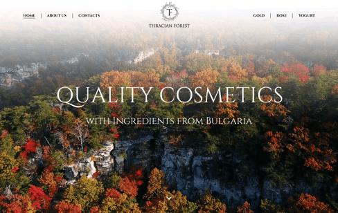 Thracianforest Cosmetics Web Design