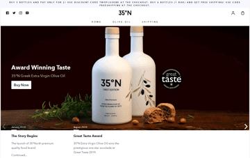 35°North Extra Virgin Olive Oil Web Design