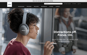 Bose Web Design