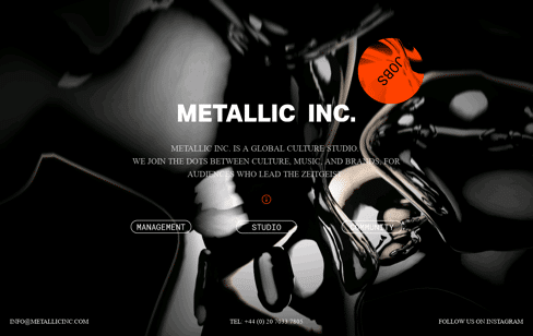 METALLIC INC Studio Web Design