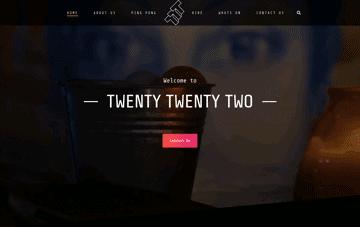 Twenty Twenty Two Web Design
