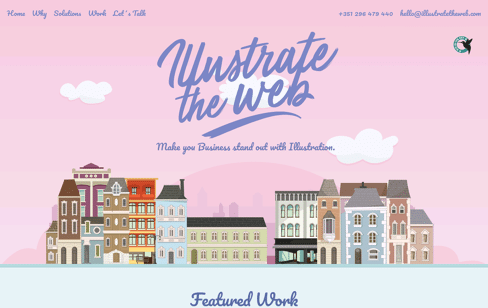 Illustrate the web digital illustration Web Design