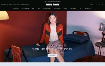 Miu Miu  Web Design