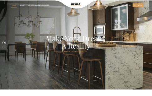 Set Kitchens Web Design