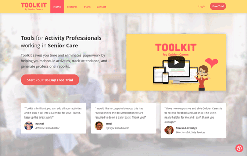 Senior Care - Toolkit Web Design