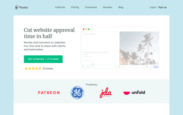 Pastel website feedback tool Web Design