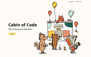 Cabin of Code Web Design