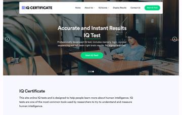 IQ Certificate Web Design
