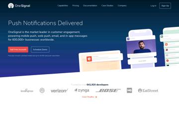 OneSignal Push Service Web Design