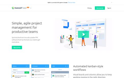 Hubstaff Tasks Web Design