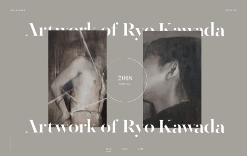 Ryo Kawada Artist Painter Web Design