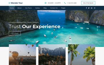 Wonder Tour Web Design