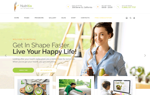 Nutritia Web Design