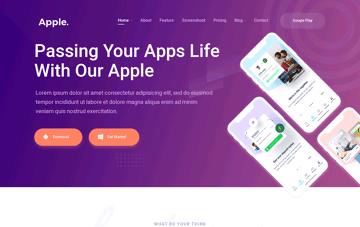 Apple. Web Design