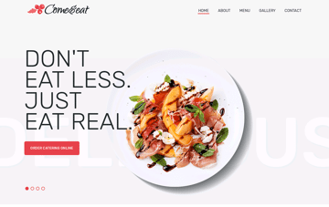 Come & eat Web Design