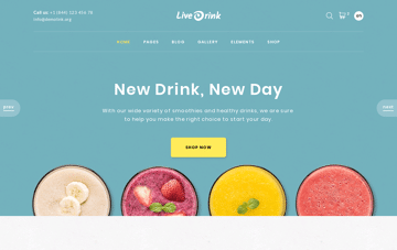 Live Drink Web Design