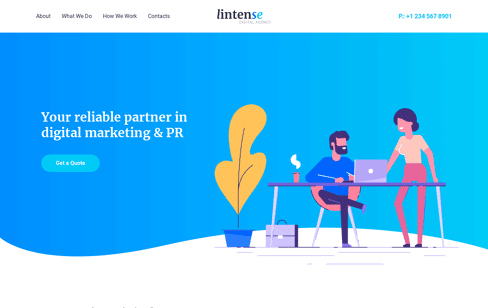 Lintense Digital Agency Web Design