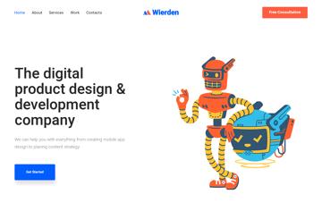 Buy Wierden Theme Web Design