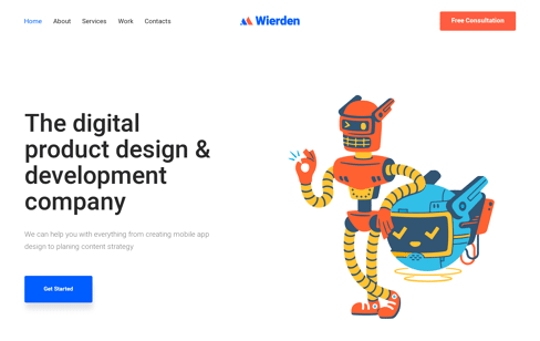 Buy Wierden Theme Web Design