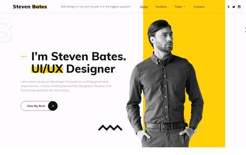 Buy Steven Bates Template Web Design