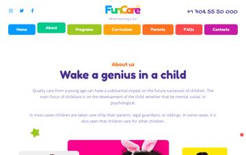 Funcare Wordpress Theme Web Design