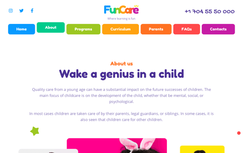 Funcare Wordpress Theme Web Design