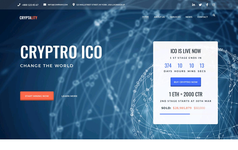 Cryptality Premium WordPress Theme