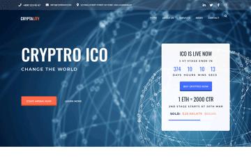 Cryptality Premium WordPress Theme Web Design