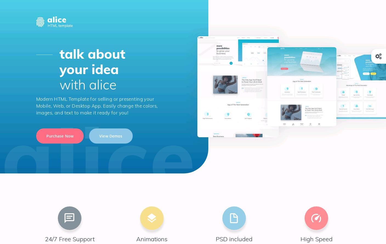 Alice HTML Template