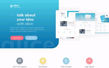Alice HTML Template Web Design