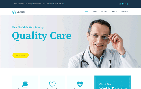 Careex  Wordpress Theme Web Design