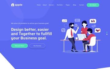 Wordpress Theme : Apple Web Design