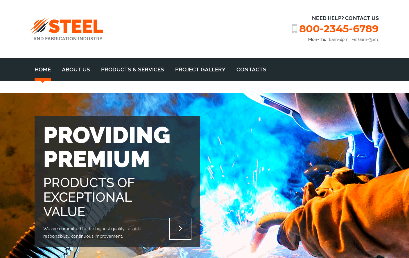 Steel Bootstrap4 HTML Template