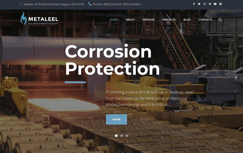 Wordpress Theme - Metaleel