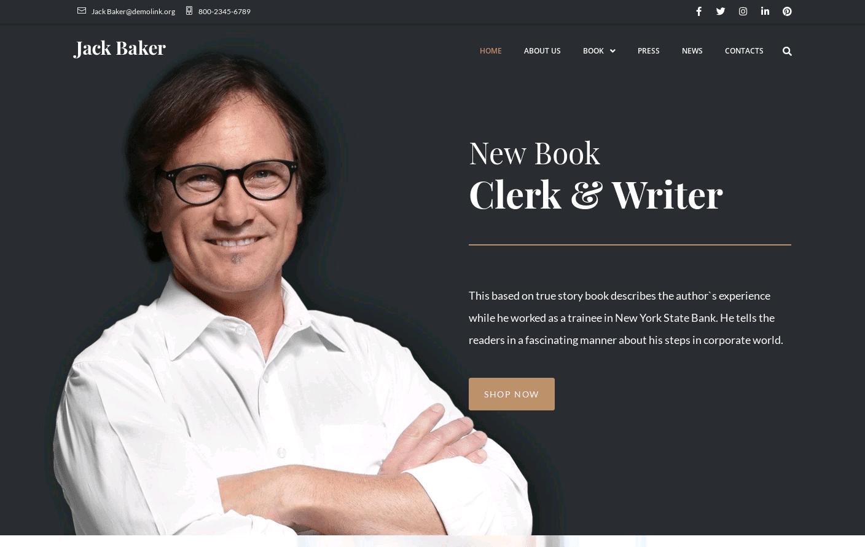Wordpress Theme - Jack Baker