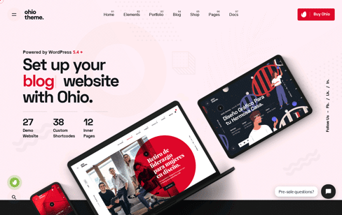 Ohio WordPress Theme Web Design