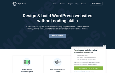 Codeless Web Design