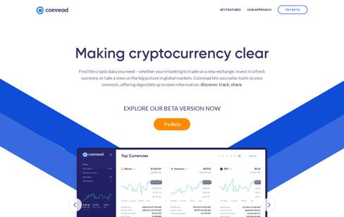 Coinread Web Design