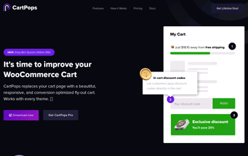 CartPops WooCommerce Cart Web Design