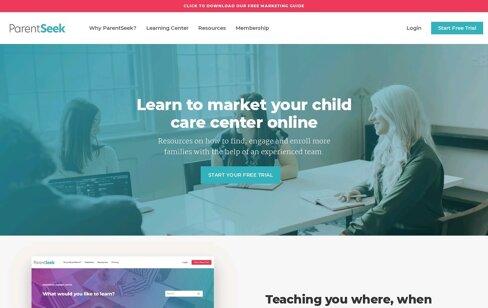 ParentSeek Childcare Marketing Web Design