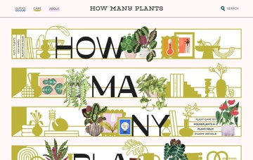 How Many Plants Web Design